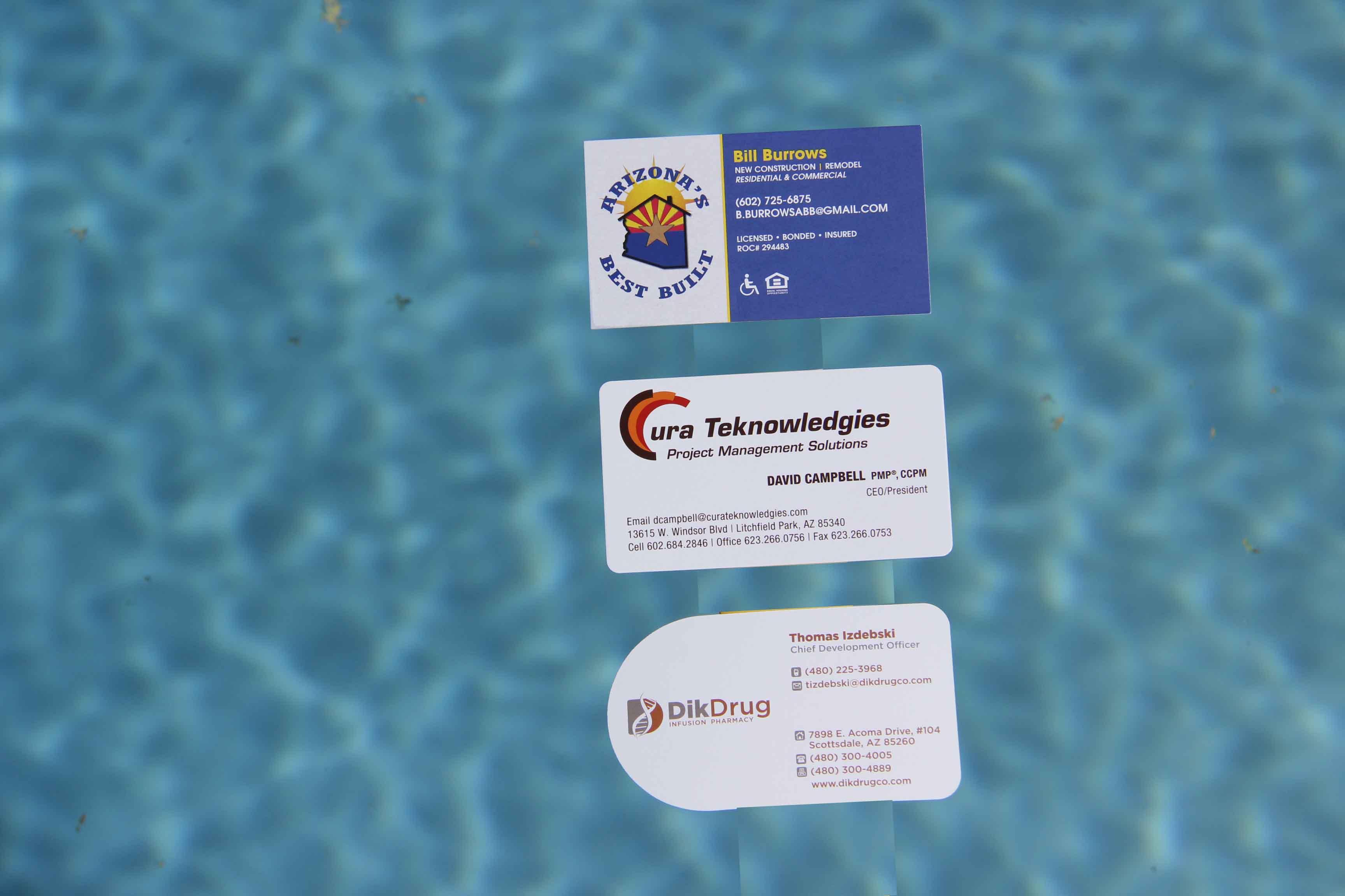 Business card printing custom foil custom shapes splash categories colourmoves