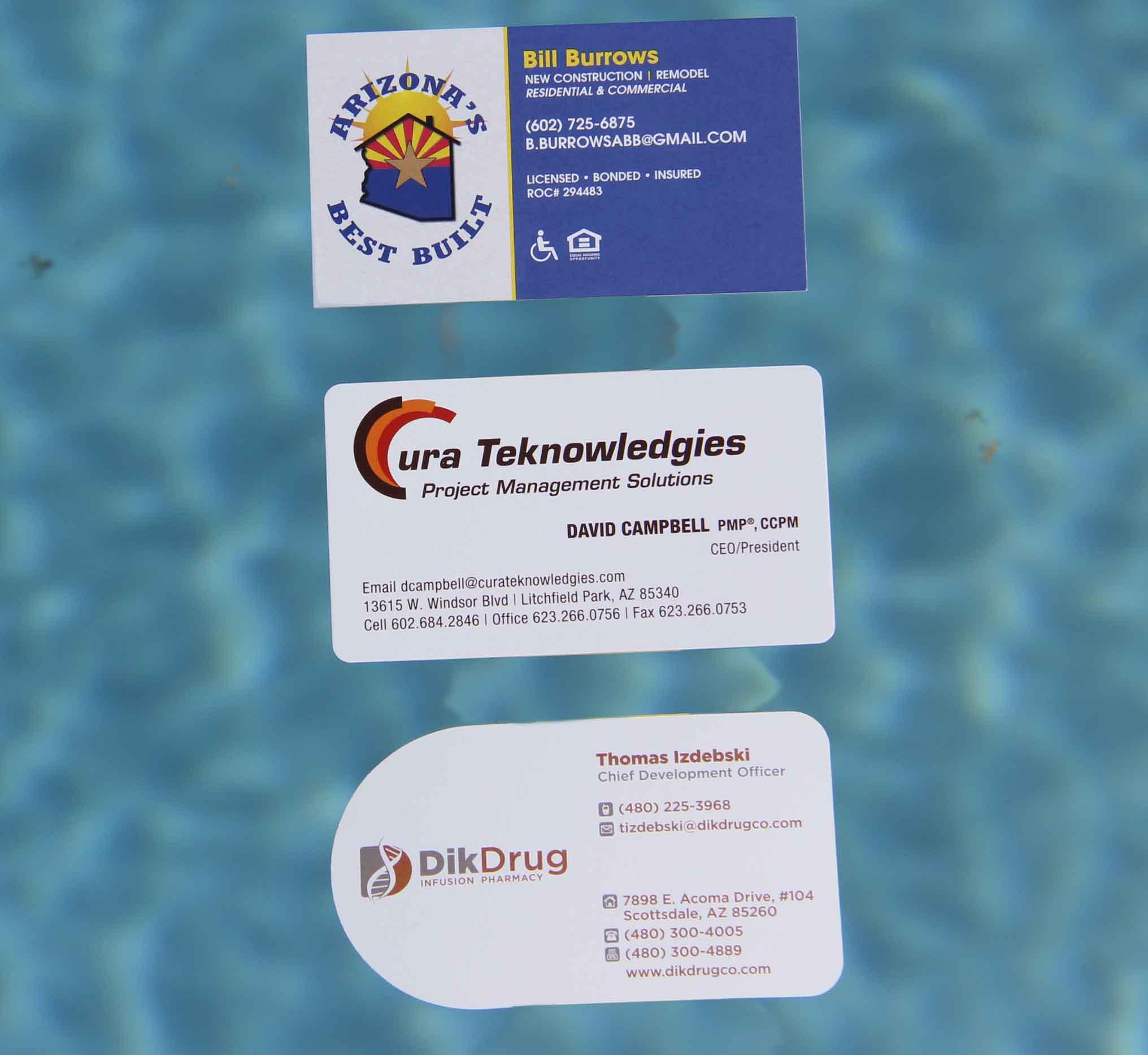 Business Card Printing - Custom Foil - Custom Shapes – Splash ...
